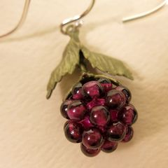 Raspberry Drop Earrings - product images 3 of 5