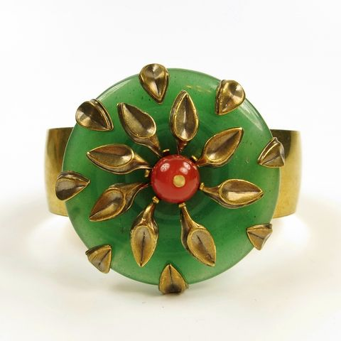 Jan,Michaels,Chrysanthemum,Cuff,Jan Michaels Chrysanthemum Cuff, Jan Michaels cuff, Jan Michaels bracelet, Jan Michaels