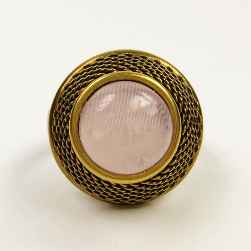 Jan Michaels Jeweled Basket Ring - Rose Quartz - product image