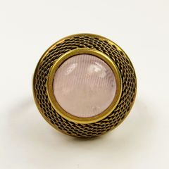 Jan Michaels Jeweled Basket Ring - Rose Quartz - product images 1 of 4