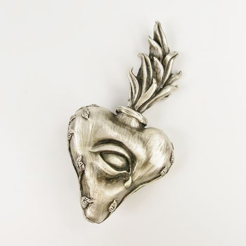 'Saint,Claude',Sacred,Heart,'Saint Claude' Sacred Heart  Sculpture, Ria Charisse, cast heart
