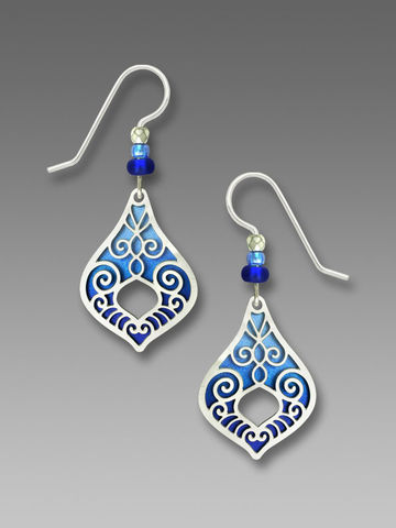 Adajio,Earrings,-,Open,Pendulum,Drop,with,Azure,Blue,Ombré,Background,Adajio Earrings, Adajio earrings Sienna Sky, Adajio Jewelry, Adajio Colorado