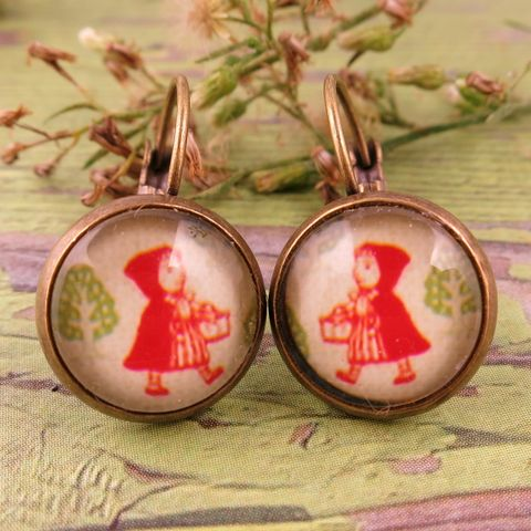 Beijo,Brasil,Red,Riding,Hood,Dangle,Earrings,Beijo Brasil Red Riding Hood Dangle Earrings, Beijo Brasil, Beijo Brasil Red Riding Hood earrings, Red Riding Hood earrings, girl earrings