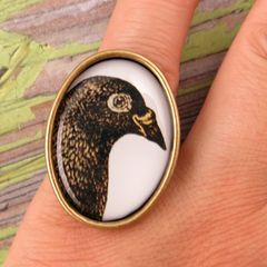 Beijo Brasil Natural World Resin Image Ring - Pigeon - product images 4 of 4