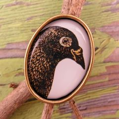 Beijo Brasil Natural World Resin Image Ring - Pigeon - product images 1 of 4