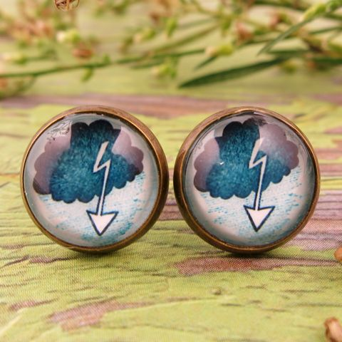 Beijo,Brasil,Lightning,Bolt,Studs,Beijo Brasil Lightning Bolt Studs, Cloud Collector's Collection, Beijo Brasil, Beijo Brasil Lightning Bolt earrings, Lightning Bolt earrings