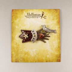 Mullanium - Bird in Hand Pin with Brown Tone - product images 5 of 5