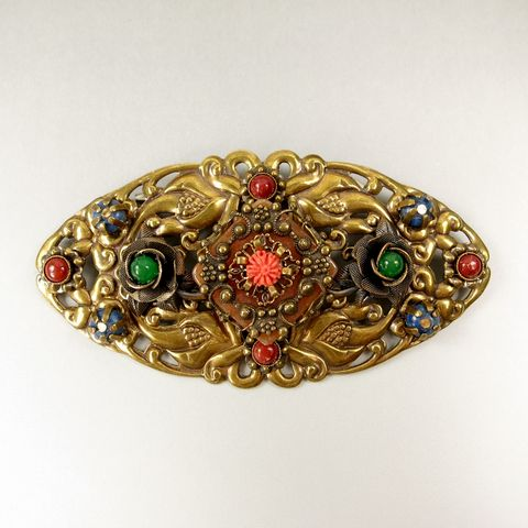 Jan,Michaels,Enchantment,Pin,Brooch,Jan Michaels Enchantment Pin Brooch, large Ornate brooch, Jan Michaels pin