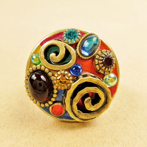 Michal,Golan,-,Confetti,Round,Ring,Michal Golan, Michal Golan Confetti Collection, Michal Golan Confetti Round Ring, Michal Golan ring, Michal Golan multicolor ring