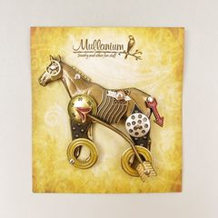 Mullanium - Horse on Wheels Pin - product images 6 of 6