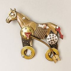 Mullanium - Horse on Wheels Pin - product images  of