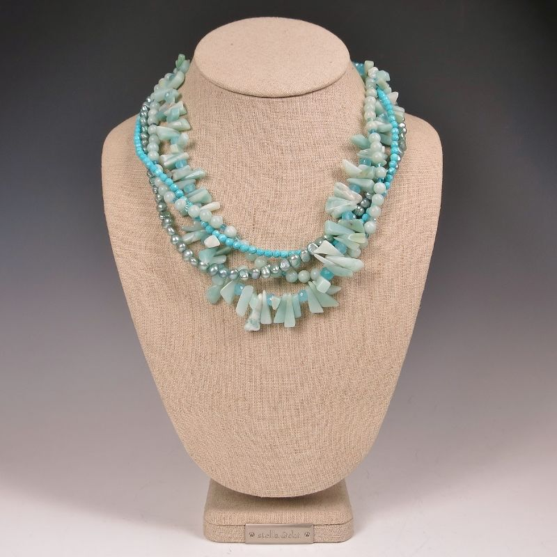 Echo of the Dreamer Multistrand Bead Necklace - product image