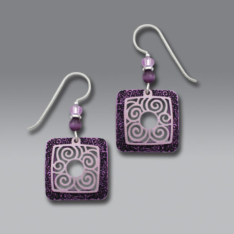 Adajio,Earrings,-,Etched,Amethyst,Frame,with,Pale,Lavender,Filigree,Overlay,Adajio Earrings, Adajio earrings Sienna Sky, Adajio Jewelry, Adajio Colorado