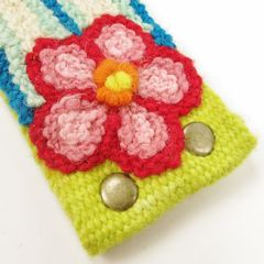 Jenny Krauss Floral Embroidered Wool Belt in Citron - product images 7 of 11