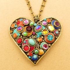 Michal Golan Confetti Large Heart Pendant Necklace Product Images 1 Of 7