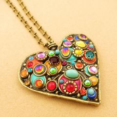 Michal Golan Confetti Large Heart Pendant Necklace Product Images Of