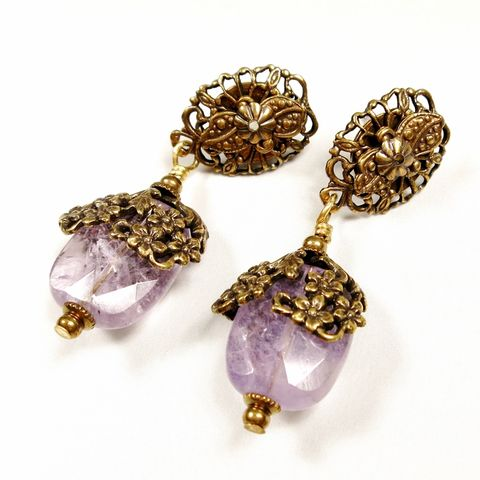 Jan,Michaels,Amethyst,Drop,Earrings,Jan Michaels, Jan Michaels Jewelry, Jan Michaels earrings, Jan Michaels Amethyst Drop Earrings