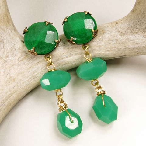 Jan,Michaels,Emerald,Glow,Earrings,Jan Michaels, Jan Michaels Jewelry, Jan Michaels earrings, Jan Michaels Emerald Glow Earrings