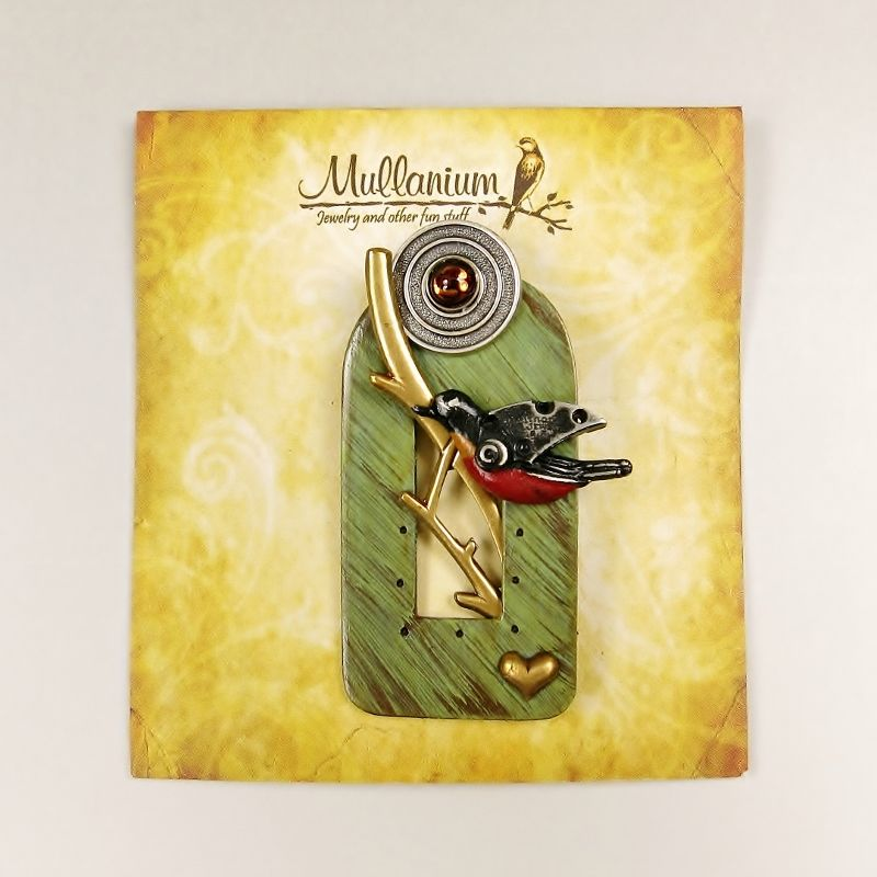 Mullanium - Perched Robin Pin - product image