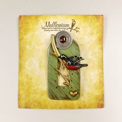 Mullanium - Perched Robin Pin - product images 5 of 5