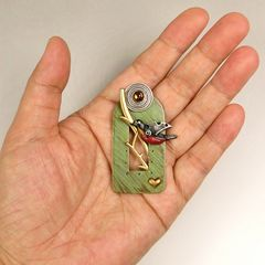Mullanium - Perched Robin Pin - product images  of