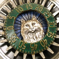 Mullanium - Cat on Sundial Pin - product images 2 of 4