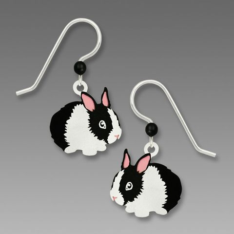 Sienna,Sky,Earrings,-,Black,and,White,Bunny,Sienna Sky Earrings, Sienna Sky Jewelry, Sienna Sky Bunny Rabbit Earrings, Sienna Sky 1814