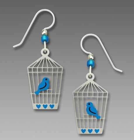 Sienna,Sky,Earrings,-,Bluebird,in,Open,Cage,Sienna Sky Earrings, Adajio earrings Sienna Sky, Sienna Sky Colorado