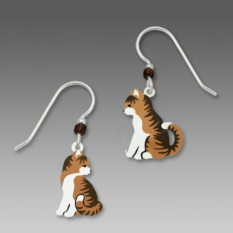 Sienna,Sky,Earrings,-,Tabby,Cats,Facing,Each,Other,Sienna Sky Earrings, Sienna Sky Jewelry, Sienna Sky cat Earrings, Sienna Sky 1471