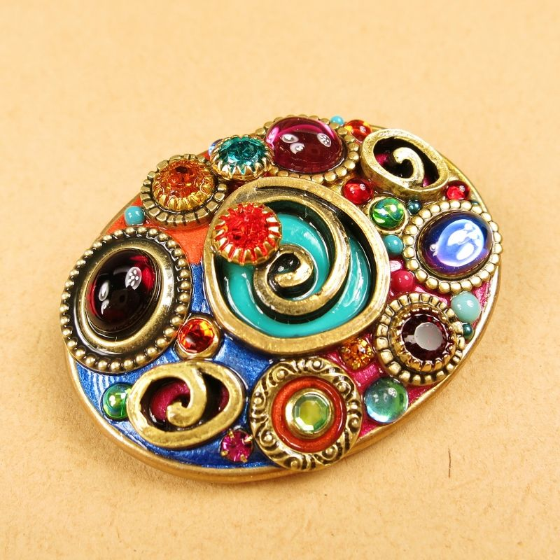 Michal Golan - Confetti Oval Brooch - product image