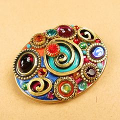 Michal Golan - Confetti Oval Brooch - product images 2 of 5