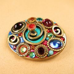 Michal Golan - Confetti Oval Brooch - product images  of