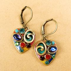 Michal Golan - Confetti Small Heart Drop Earrings - product images 2 of 5