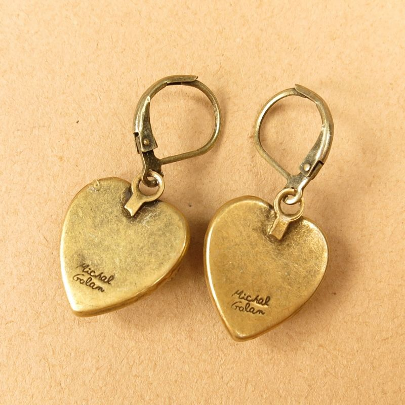 Michal Golan - Confetti Small Heart Drop Earrings - product image