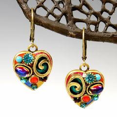 Michal Golan - Confetti Small Heart Drop Earrings - product images 1 of 5