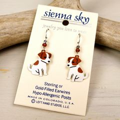 Sienna Sky Earrings - Jack Russell Terrier - product images 2 of 4