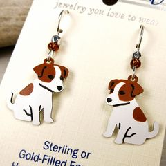 Sienna Sky Earrings - Jack Russell Terrier - product images 3 of 4