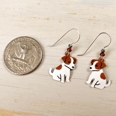 Sienna Sky Earrings - Jack Russell Terrier - product images 4 of 4