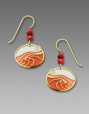 Adajio,Earrings,-,Warm,Pink,Oval,with,Gold,Plated,'Ocean,Wave',Overlay,Adajio Earrings, Adajio earrings Sienna Sky, Adajio Jewelry, Adajio Colorado, Adajio Earrings 7737