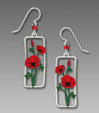Sienna,Sky,Earrings,-,Red,Poppies,Sienna Sky Earrings, Sienna Sky Red Poppies Earrings, Sienna Sky 1933