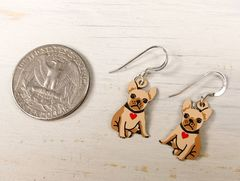 Sienna Sky Earrings - Bulldog Puppy with Heart Collar - product images 4 of 4