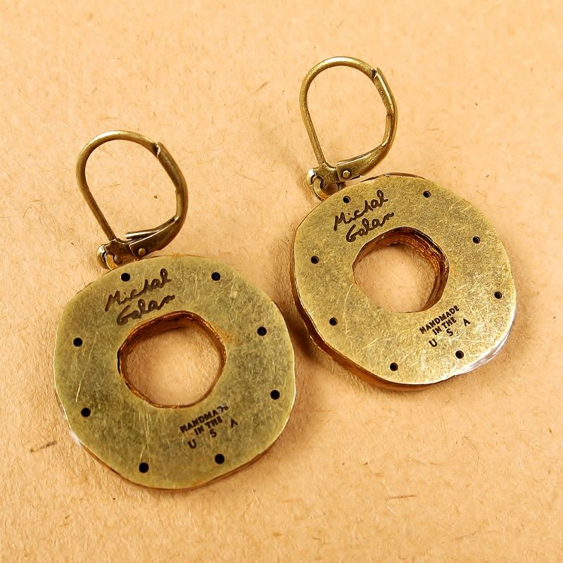 Michal Golan - 'Earth' Medium Open Circle Earrings - product image