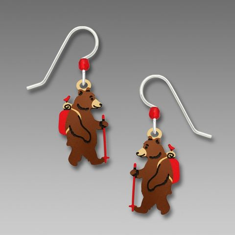 Sienna,Sky,Earrings,-,Hiking,Bear,Sienna Sky Earrings, Sienna Sky Hiking Bear Earrings, Sienna Sky 1957