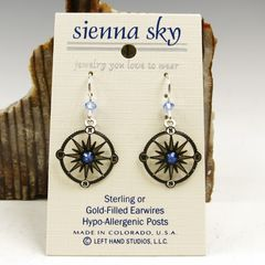 Sienna Sky Earrings - Compass - product images 2 of 5