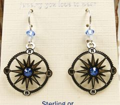 Sienna Sky Earrings - Compass - product images 3 of 5