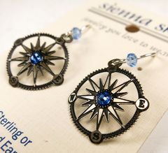 Sienna Sky Earrings - Compass - product images 4 of 5