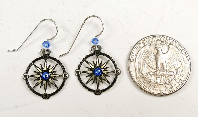 Sienna Sky Earrings - Compass - product image
