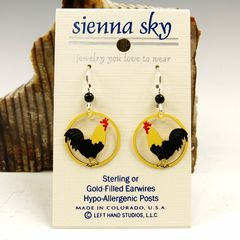 Sienna Sky Earrings - Rooster - product images  of