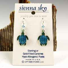 Sienna Sky Earrings - Sea Turtle - product images 2 of 5