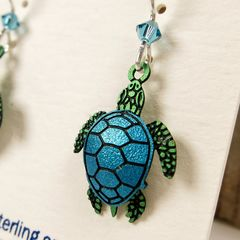 Sienna Sky Earrings - Sea Turtle - product images 4 of 5